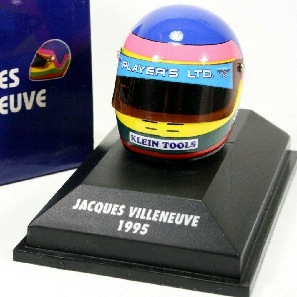 Indy Car 1 8 Jacques Villeneuve 1995 CART Helmet (TOBACCO) Indianapolis 500 Win