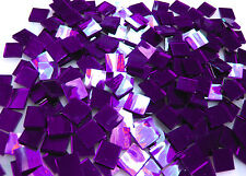 "110 Mosaic Tiles 1/2"" PURPLE VELVET MIRRORS Premium MIRROR Stained Glass"