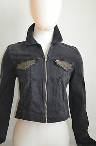 3c5c467d731835 Levi's Embellished Trucker Jacket Worn-In Black NWT Style 140130001 ...