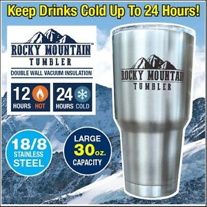 Rocky Mountain Tumbler 30oz - Fits Any Cup Holder - As Seen on TV - NEW