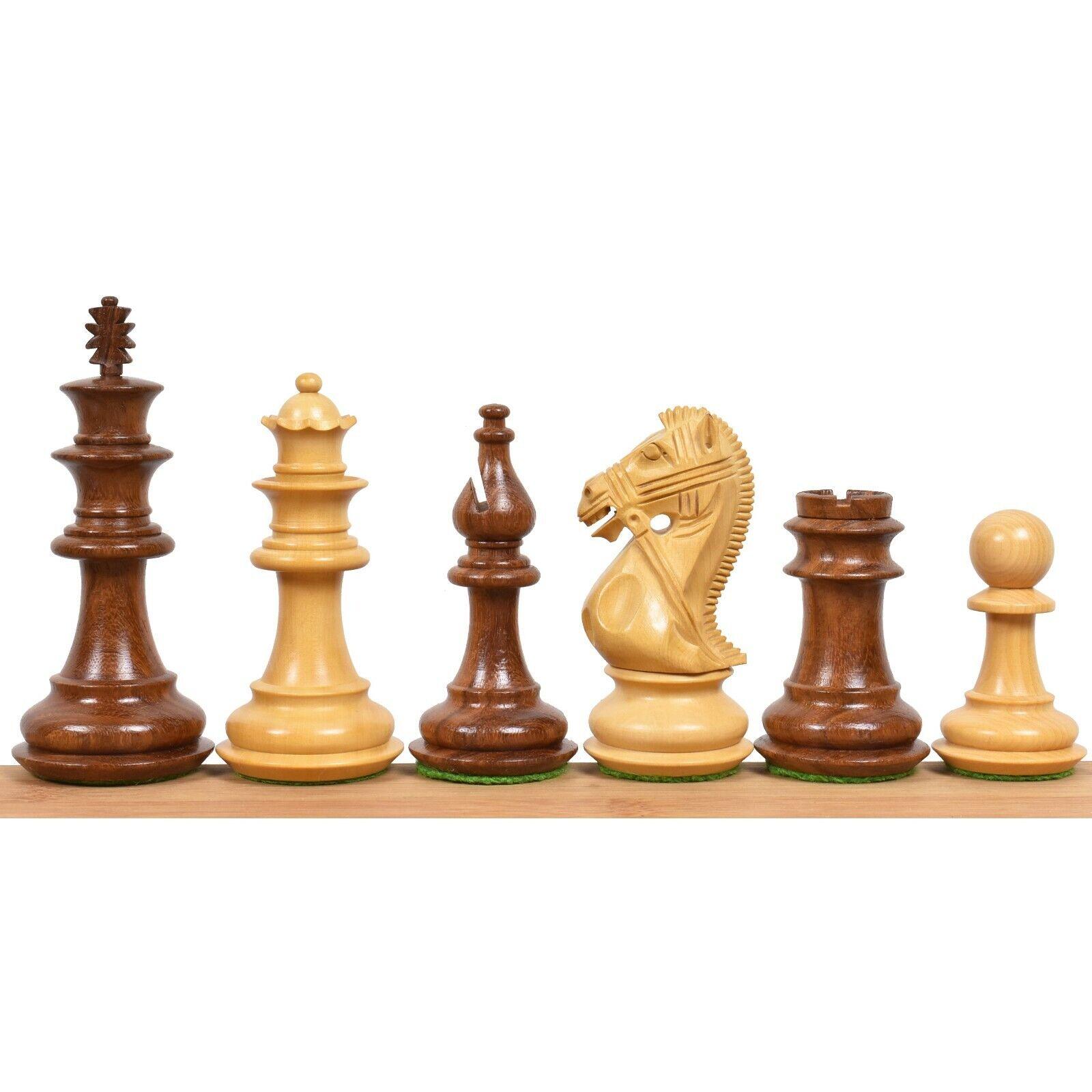 4.2  supremo de lujo Sheesham ponderado de madera conjunto de piezas de ajedrez-Extra Queens