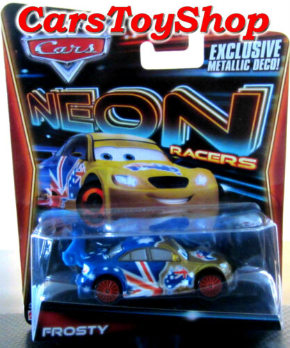 Disney Pixar Cars Frosty Neon Racers Diecast Metallic Deco Australian Flag Toy