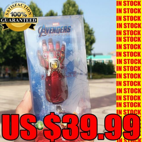 Hot Toys Avengers 4 Endgame Thanos Nano Infinity Gauntlet Red Key Chain IN STOCK