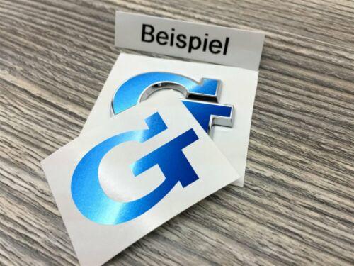 G Sticker Metallic Bleu Accessoires Tuning Lettrage Emblème Autocollant