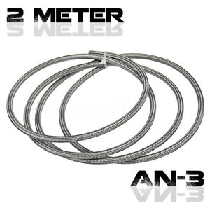 2M-AN-3-3AN-Braided-Fuel-Line-Gas-Hose-Stainless-Steel-PTFE-Brake-Clutch-Pipes