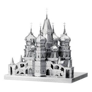 Saint-Basi-039-s-Cathedra-50-Pieces-3D-Metal-Kit-Metal-Earth-1306-Iconx