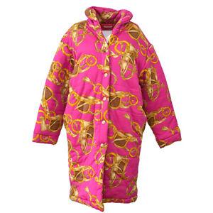 CELINE-Vintage-CC-Long-Sleeve-Coat-Jacket-Pink-M-Authentic-S09309c