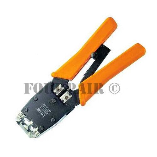 Professional Network Ethernet LAN Phone Crimper Crimp Tool CAT5e/6/3 RJ45/12/11