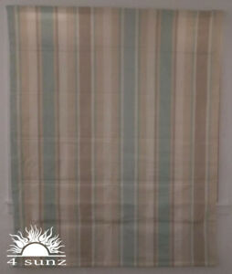Laura Ashley House Awning Stripe Duck Egg Ready Made Roman Blind 1 5m X 1 5m Ebay