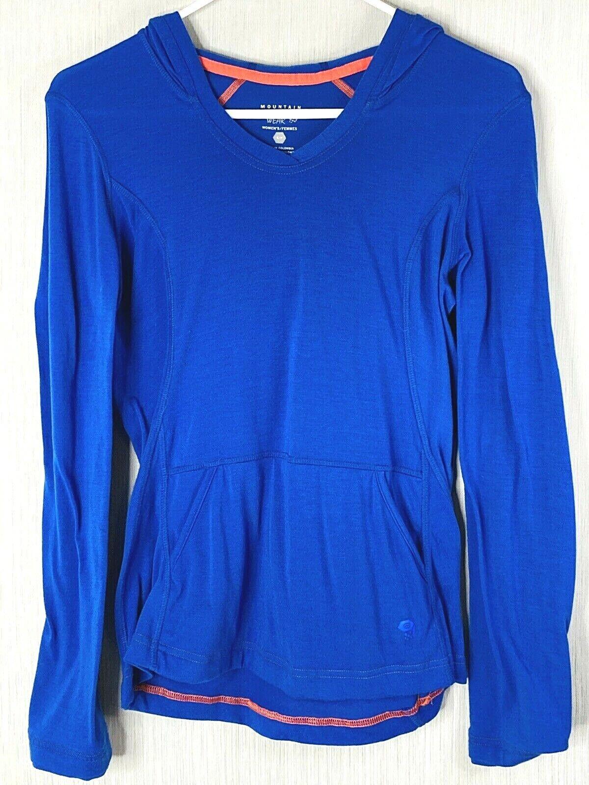 Mountain Hardwear Women's Pullover Hoodie Small Blue Sweatshirt Hoody