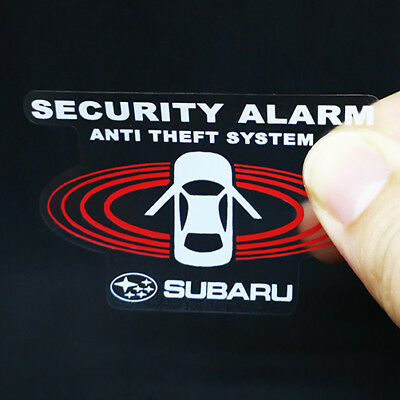 2 Car Alarm DECALS for SUBARU Inside//Outside Glass Window Security STICKERS
