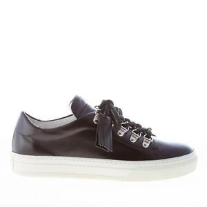 TOD'S women shoes Black leather sneaker