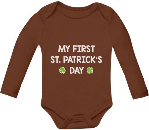 Cute Clover Irish Baby Long Sleeve Bodysuit My First St Patrick/'s Day