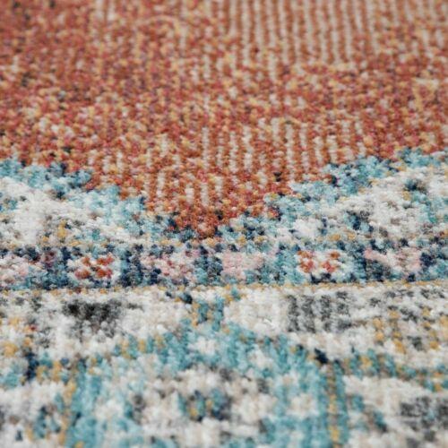 In /& Outdoor-Teppich Kurzflor Für Balkon Terrasse Orient-Muster In Rot