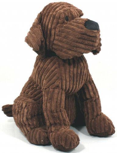 Grande marrón acanalado Labrador Perro Tope Puerta Parada Decoración del hogar Ornamento De Peso