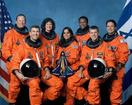 STS-107 SPACE SHUTTLE COLUMBIA CREW 8x10 SILVER HALIDE PHOTO PRINT