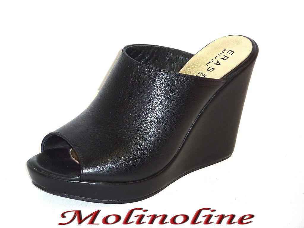 805 SANDALI ESTIVI women shoes CON ZEPPA COMODE ALLA MODA black 40