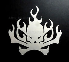 White Flame Skull Window/Bumper Sticker Vinyl for Citroen DS3 DS4 DS5 Berlingo