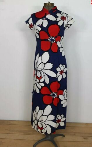 VTG Sun Fashions Hawaii Bold Red White Blue Tropic