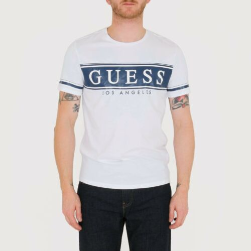 White Guess Banner Tee