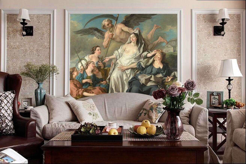 3D Ouest Peinture Peinture Peinture Photo Papier Peint en Autocollant Murale Plafond Chambre Art 1e0038
