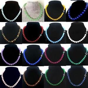 10mm-12mm-14mm-Genuine-multicolor-Jade-Gemstones-Round-Bead-Jewelry-Necklace-New