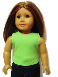 Green-Tank-Top-T-Shirt-18-034-Doll-Clothes-fits-American-Girl-Dolls