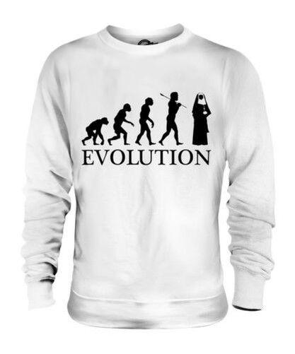 NUN EVOLUTION OF MAN UNISEX SWEATER  Herren Damenschuhe LADIES GIFT CHRISTIAN