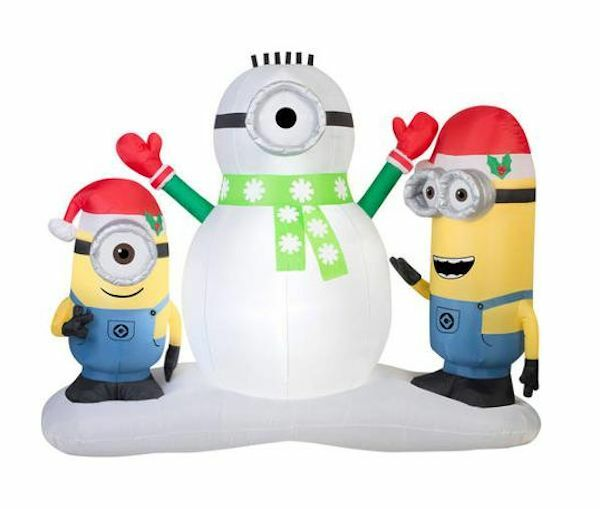 christmas inflatable minion stuart and kevin building snowman by gemmy ebay - Christmas Minion