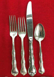 Rondo-by-Gorham-Sterling-Silver-Place-Setting-Salad-Fork-Dinner-Fork-Knife-Spoon