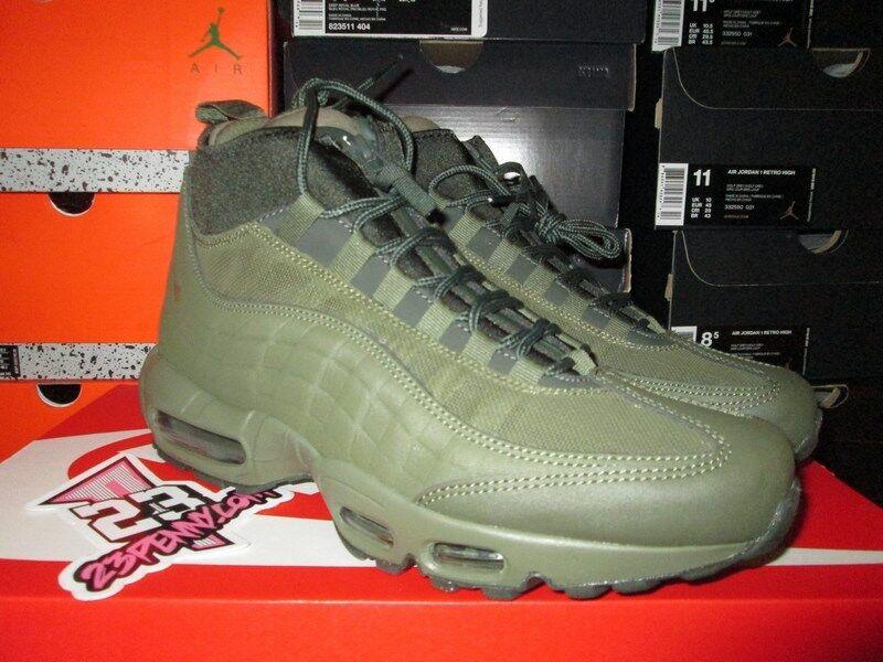 Vendita nike air max 95 sneakerboot 806809 202 buio d'alabastro verde scuro di boot