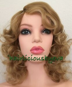 Image is loading marilyn-monroe-Wig-Strawberry-Blonde-Short-Curly-Wig- cf82993f3
