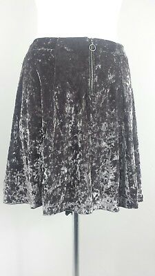 Black Gauzy Basic 90s Grunge Goth Wicca Boho Flare Skater Mini 296 mvp Skirt S M