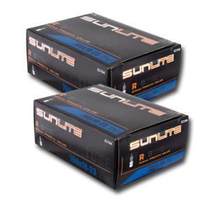 Sunlite Bicycle Inner Tubes 2-PACK 700x18-23c Presta Valve 60mm Road Fixed Bike
