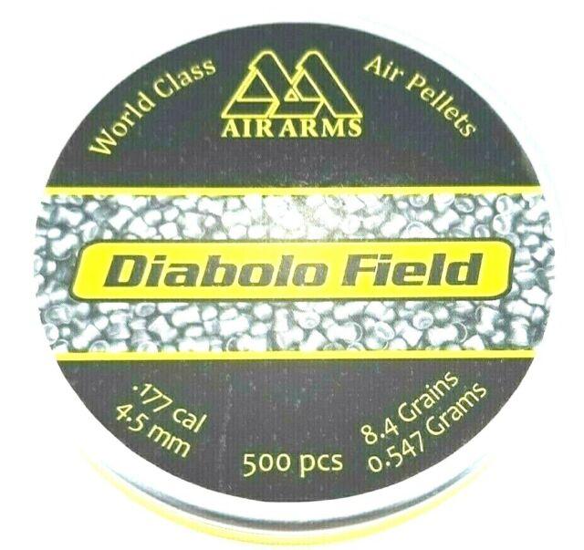 AIR ARMS FIELD  177 Precise 4 51 Diabolo 8 4 Top Hot AIR GUN PELLETS (500  ct )