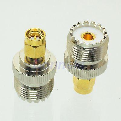 1pce UHF female jack to SMA male plug RF adapter connector