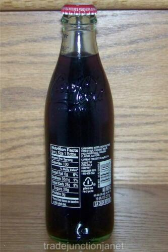 LE USA HOLIDAY 2012 EMBOSSED COCA-COLA DIAMOND LABEL 8oz w//CONTENTS GLASS BOTTLE