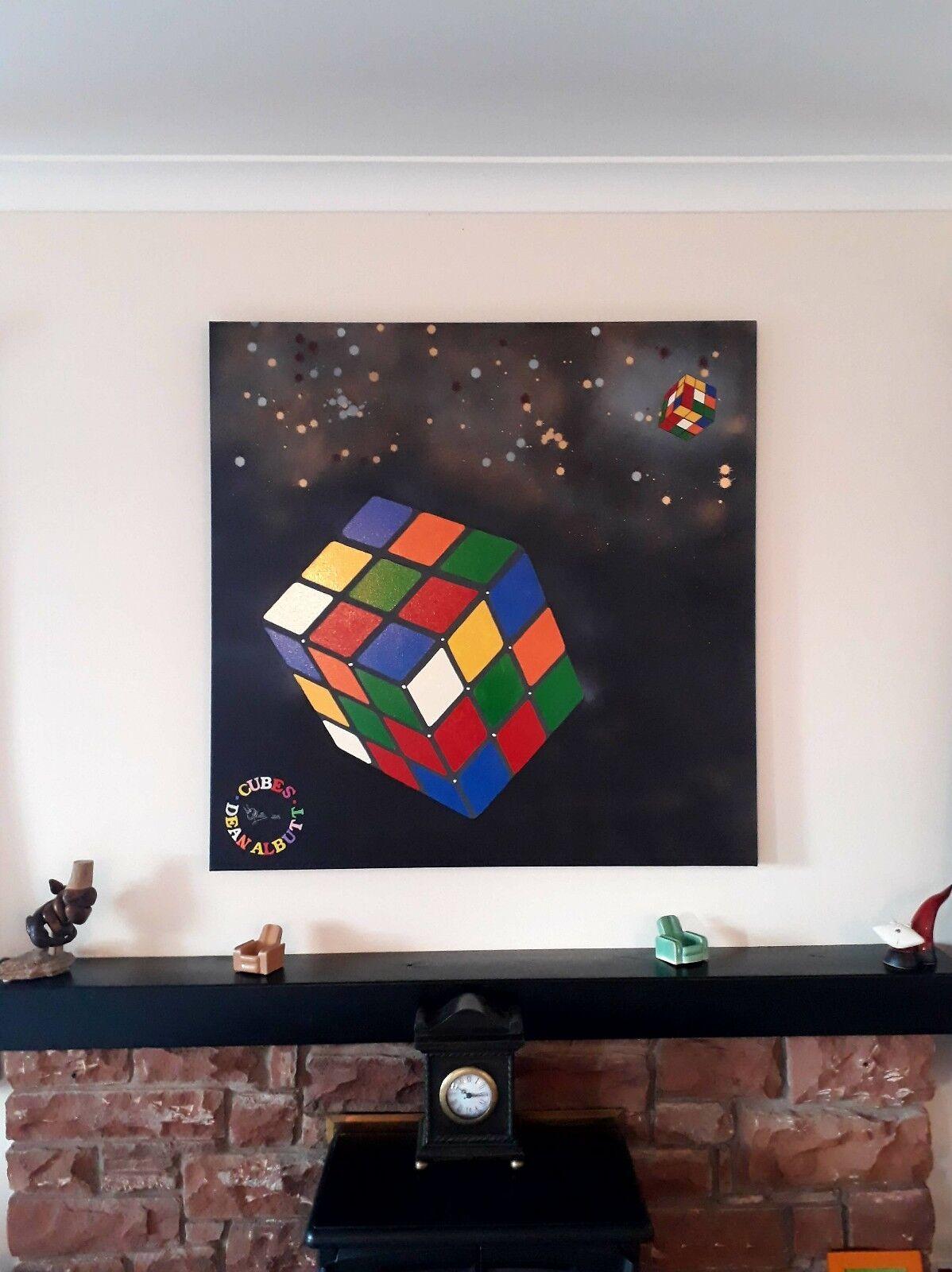 Original painting of Rubix cube/Rubiks cube