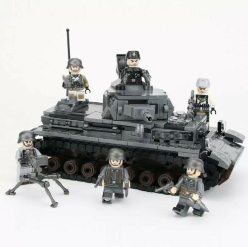 Military Tank Building Blocks Toy WW2 Soldier Bricks Army Soldiers Figures kids