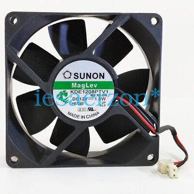 1pcs SUNON KDE1208PTV1 Fan 8025 DC12V