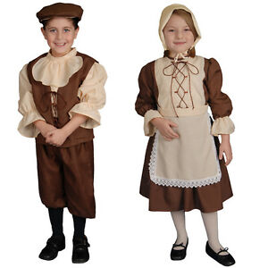 Image is loading Colonial-Boy-and-Colonial-Girl-Costume-By-Dress-  sc 1 st  eBay & Colonial Boy and Colonial Girl Costume By Dress Up America | eBay