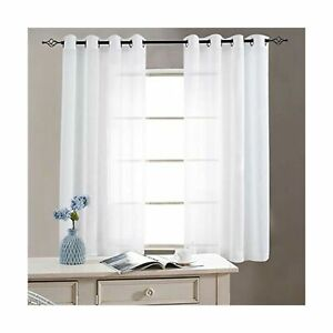 Details About Sheer Curtains For Living Room Ring Top Bedroom Curtain Panels