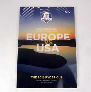 Ryder-Cup-2018-Official-Program-Europe-vs-USA-Le-Golf-National-Paris-France