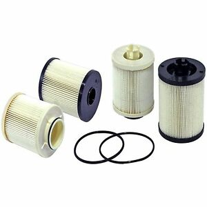 2 ford powerstroke 6 4l turbo diesel fuel filter kit f 250. Black Bedroom Furniture Sets. Home Design Ideas