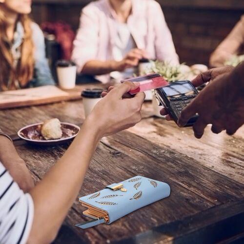 Women Ladies PU Leather Clutch Long Wallet ID Card Phone Holder Purse Handbag US