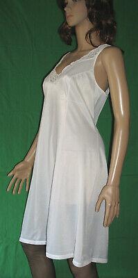 Sanft Bezaubernd Erotisch 50/60er Vintage Perlon/nylon-unterkleid-unterrock Gr.48 (912