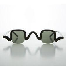 Edwardian Square Spectacle Steampunk Vintage Sunglasses Black- CABOT