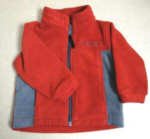 8464cc166 Columbia Toddler Boy s Fleece Jacket Zip Front Orange Gray Size 2T ...
