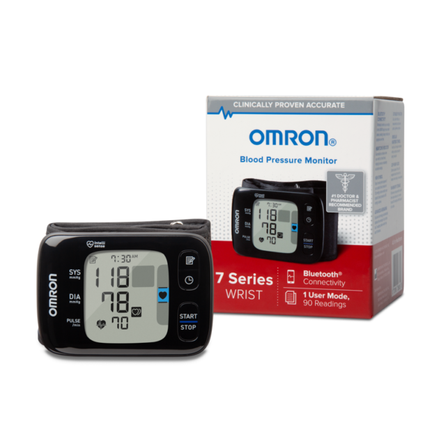 Omron Blood Pressure Monitor 7 Series Wrist Bluetooth Heart
