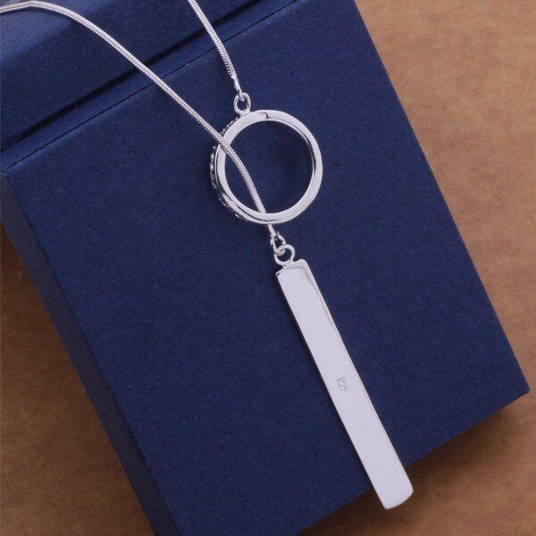 fashion charms silver pretty Beautiful women charm pendant necklace wedding hot